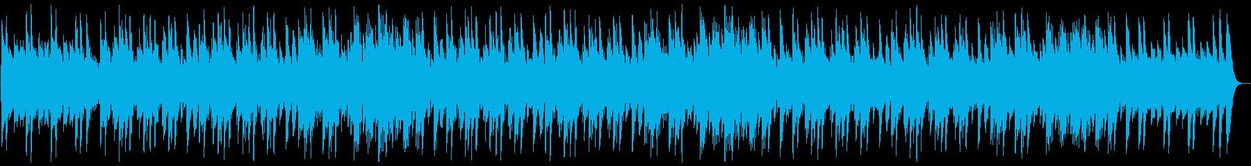 優しく幻想的なヒーリングソングの再生済みの波形