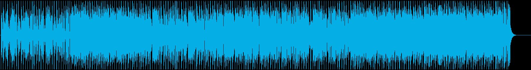 お洒落でミステリアスなメロディーの再生済みの波形