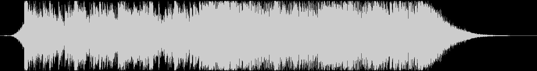 日本的なイメージのパーカッシブなBGM2の未再生の波形