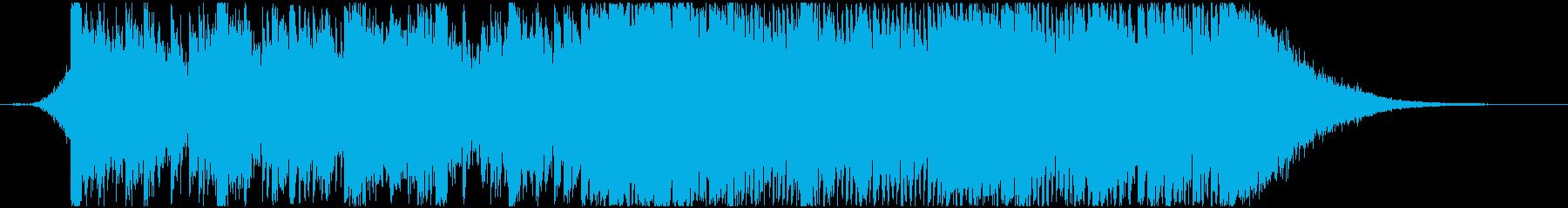 日本的なイメージのパーカッシブなBGM2の再生済みの波形