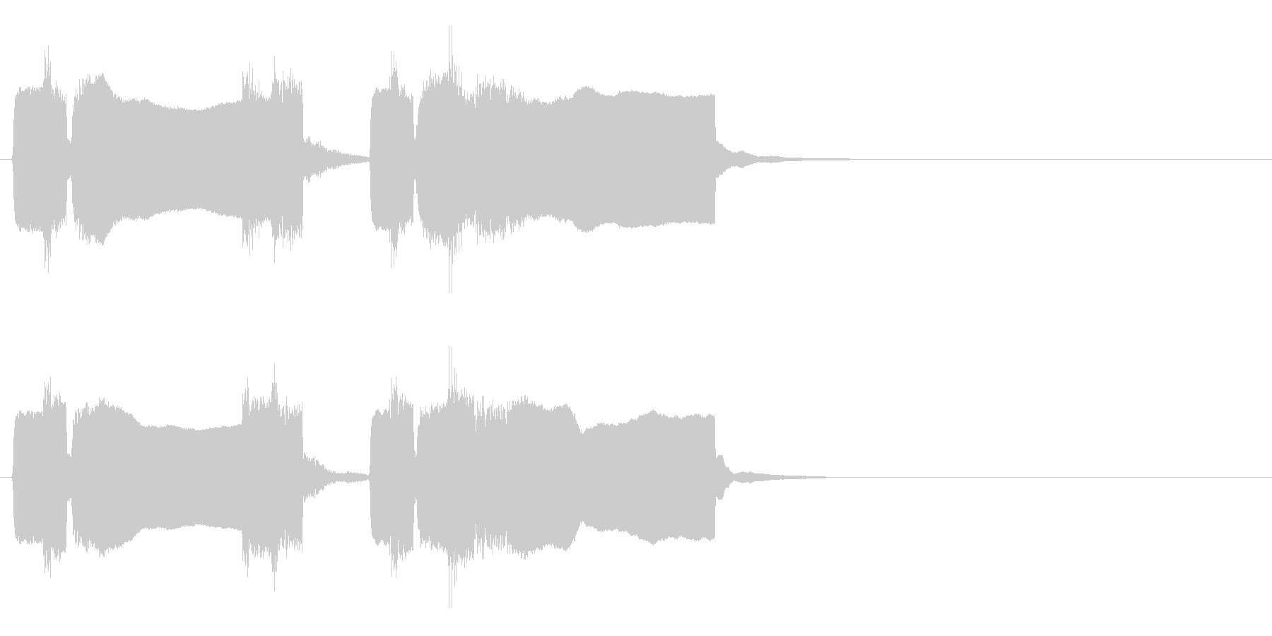 ラーメン屋のラッパ(チャルメラ)の未再生の波形