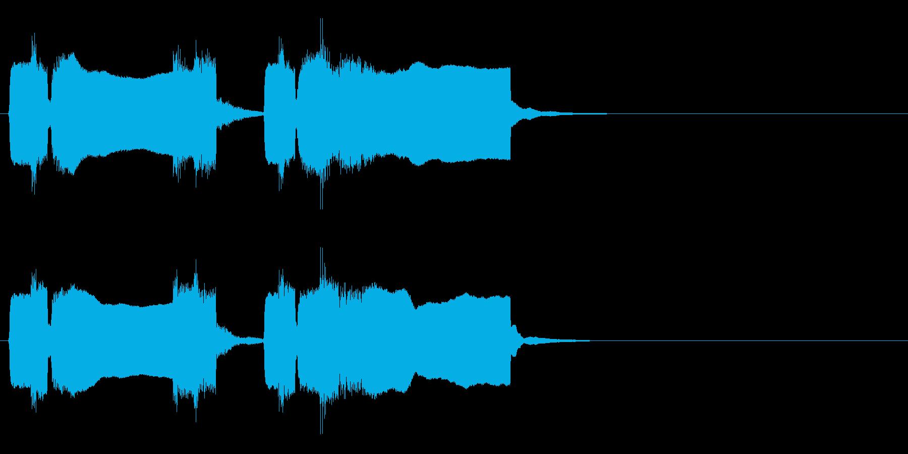 ラーメン屋のラッパ(チャルメラ)の再生済みの波形