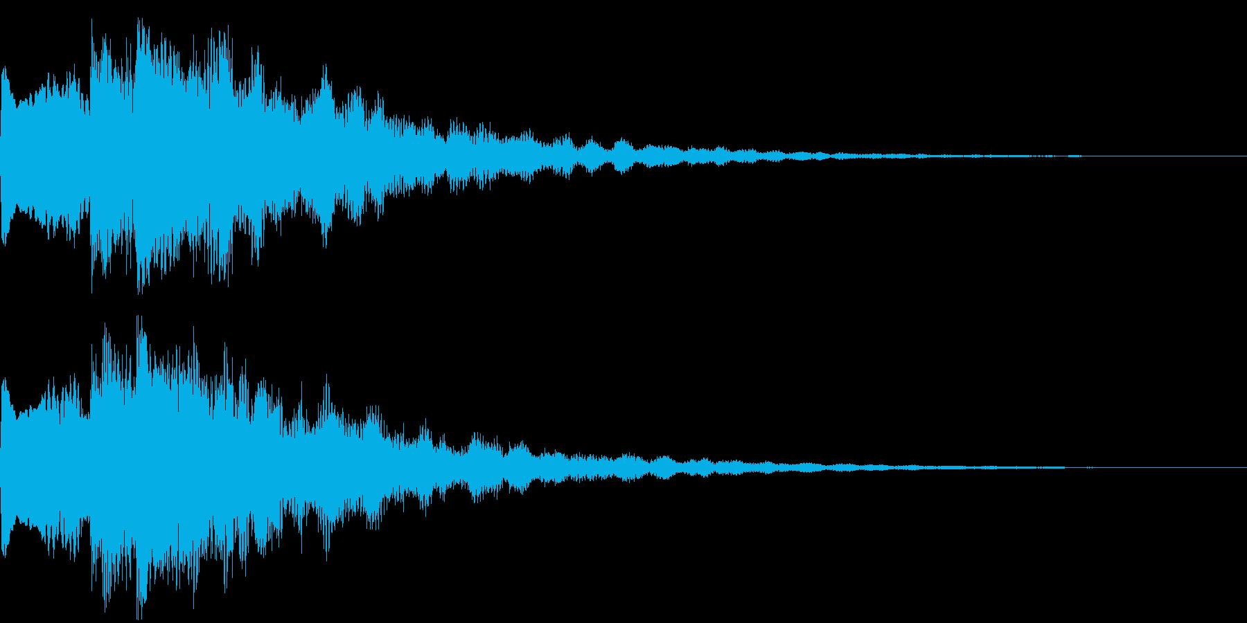 ボタン・決定音・サウンドロゴの再生済みの波形