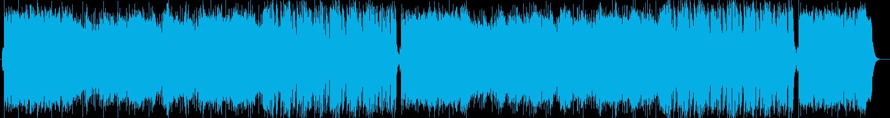 爽やかで明るいストリングスポップの再生済みの波形