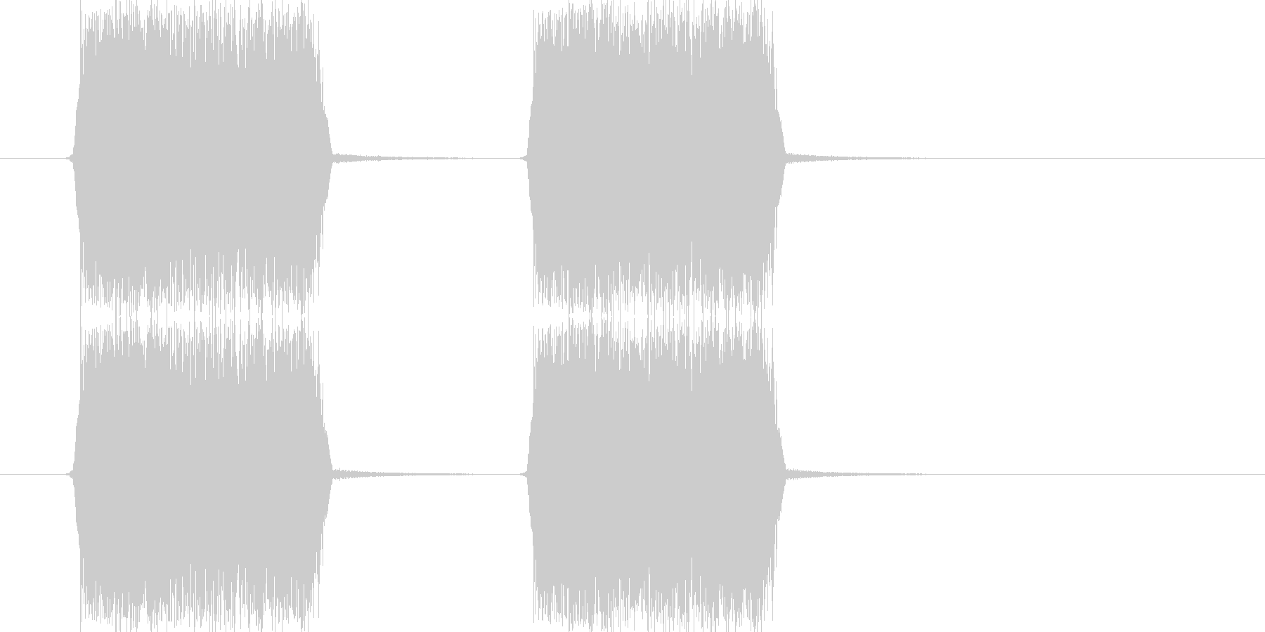 シューッ(スプレーを吹きつける音)の未再生の波形