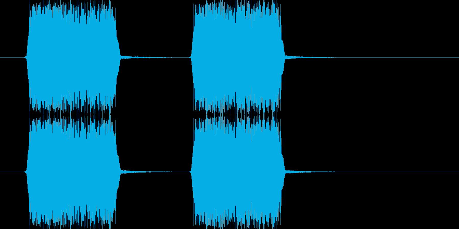 シューッ(スプレーを吹きつける音)の再生済みの波形