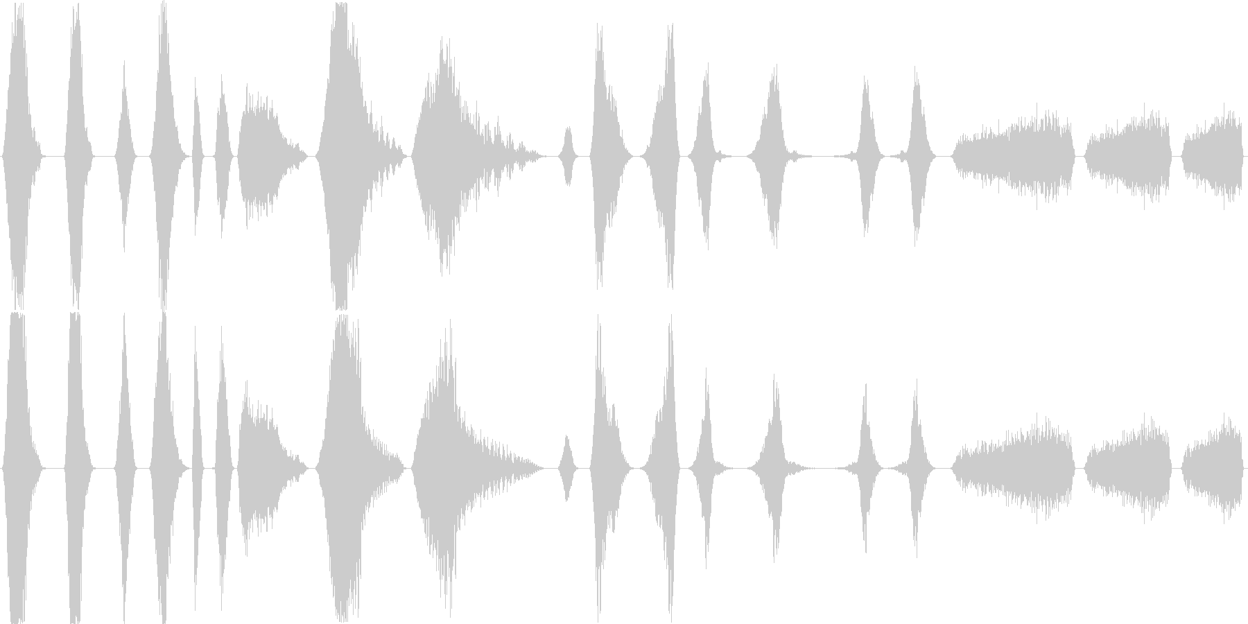 さまざまな異星の実体が通り過ぎる、...の未再生の波形
