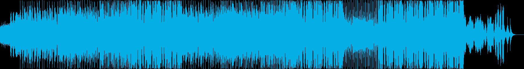 シューティングゲーム風音楽の再生済みの波形