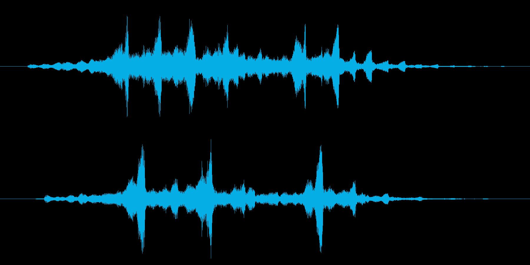 フワーン優しく不思議なロゴの再生済みの波形