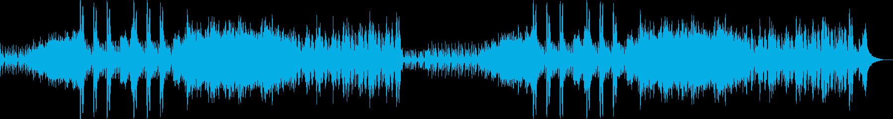 オーケストラ楽器による民族風音楽の再生済みの波形