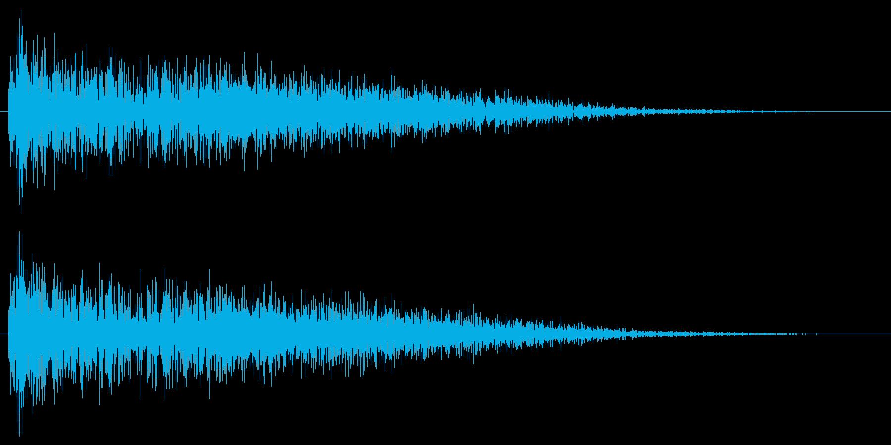 衝撃 歪んだ爆発ステレオ03の再生済みの波形
