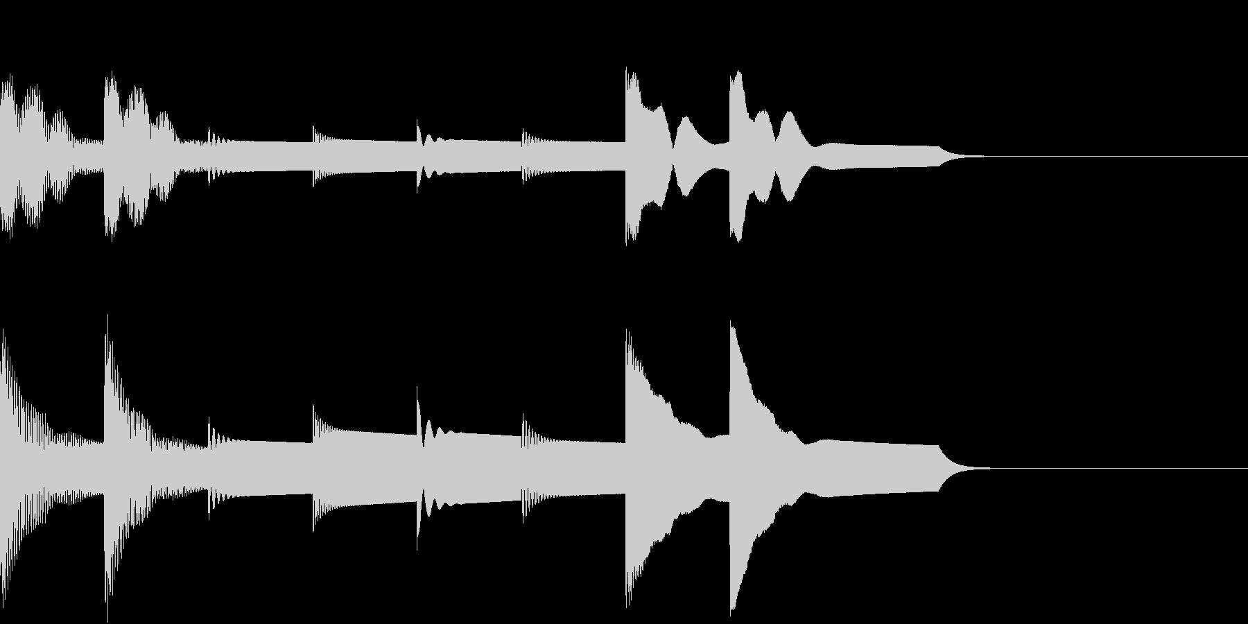 シンプルなアラームです。ループ仕様。の未再生の波形