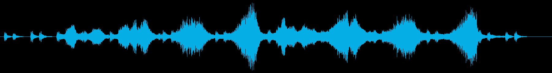 緊張のシーンを生ストリングスでの再生済みの波形