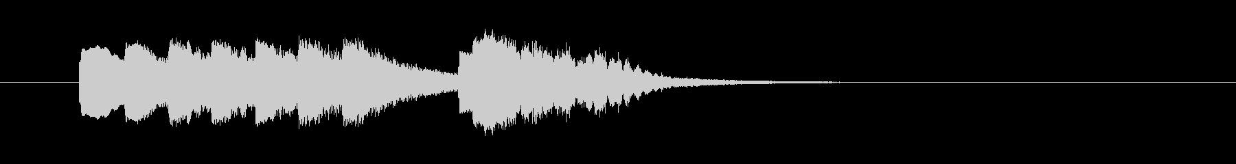 鉄琴とコーラス 明るくさわやかなジングルの未再生の波形