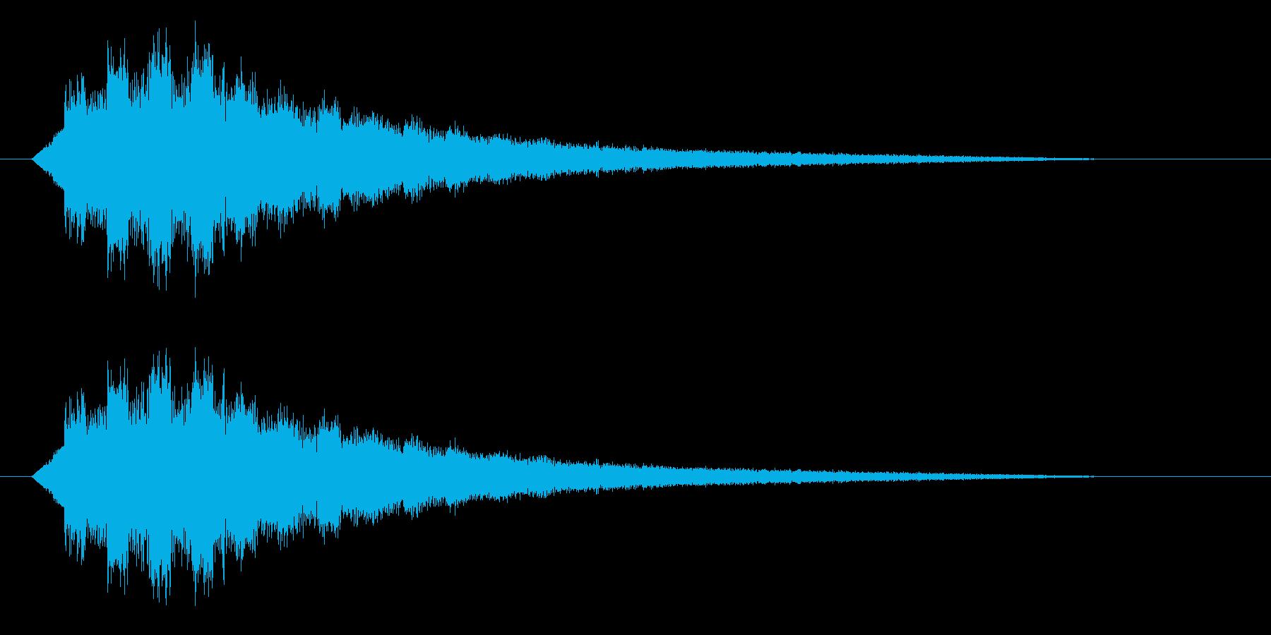 キラキラ/セーブ/回復の再生済みの波形