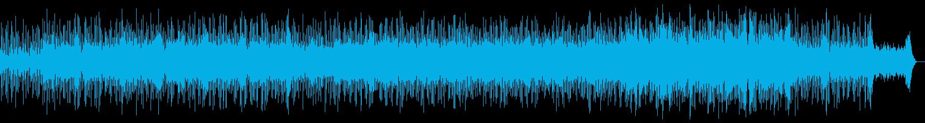 宇宙的、神秘的な雰囲気のするBGMの再生済みの波形