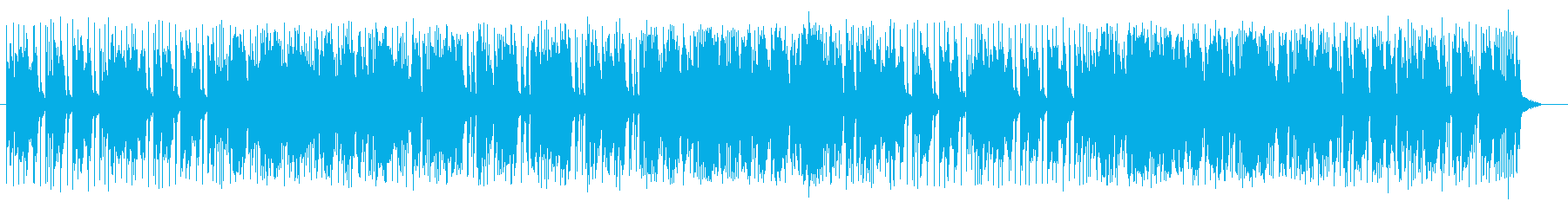 ブルージーでファンクな特徴のあるポップスの再生済みの波形