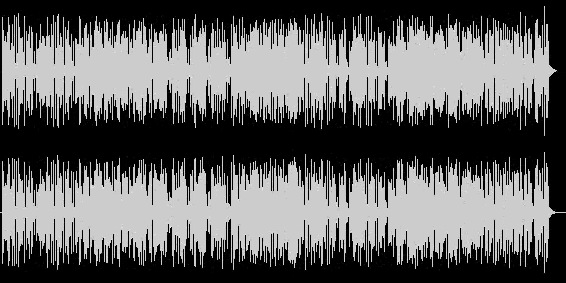 ブルージーでファンクな特徴のあるポップスの未再生の波形
