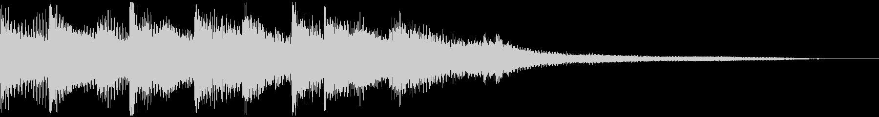 落ち着いたトーンのピアノのジングルの未再生の波形