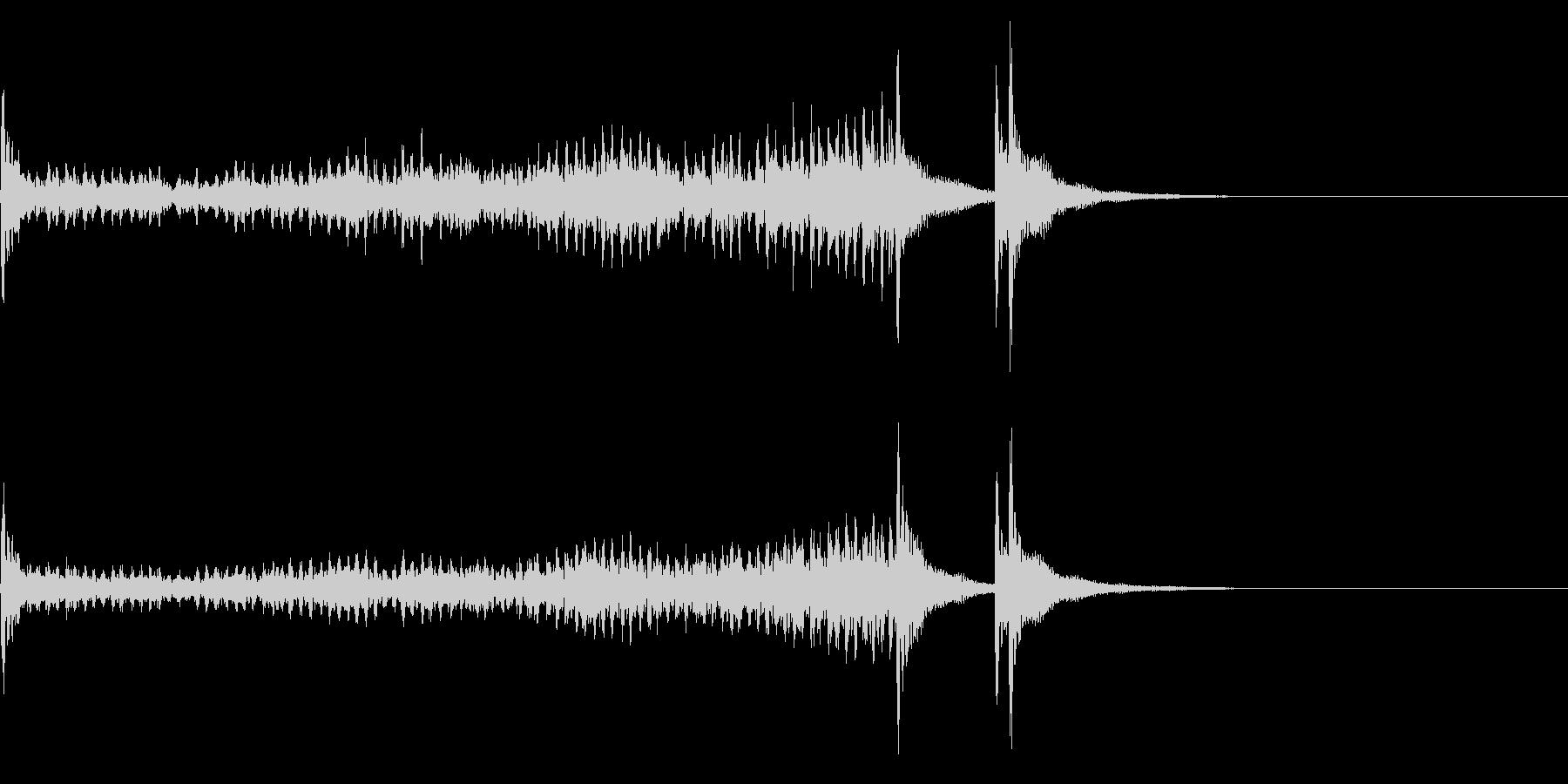 ティンパニーロールドドン☆ロング3の未再生の波形
