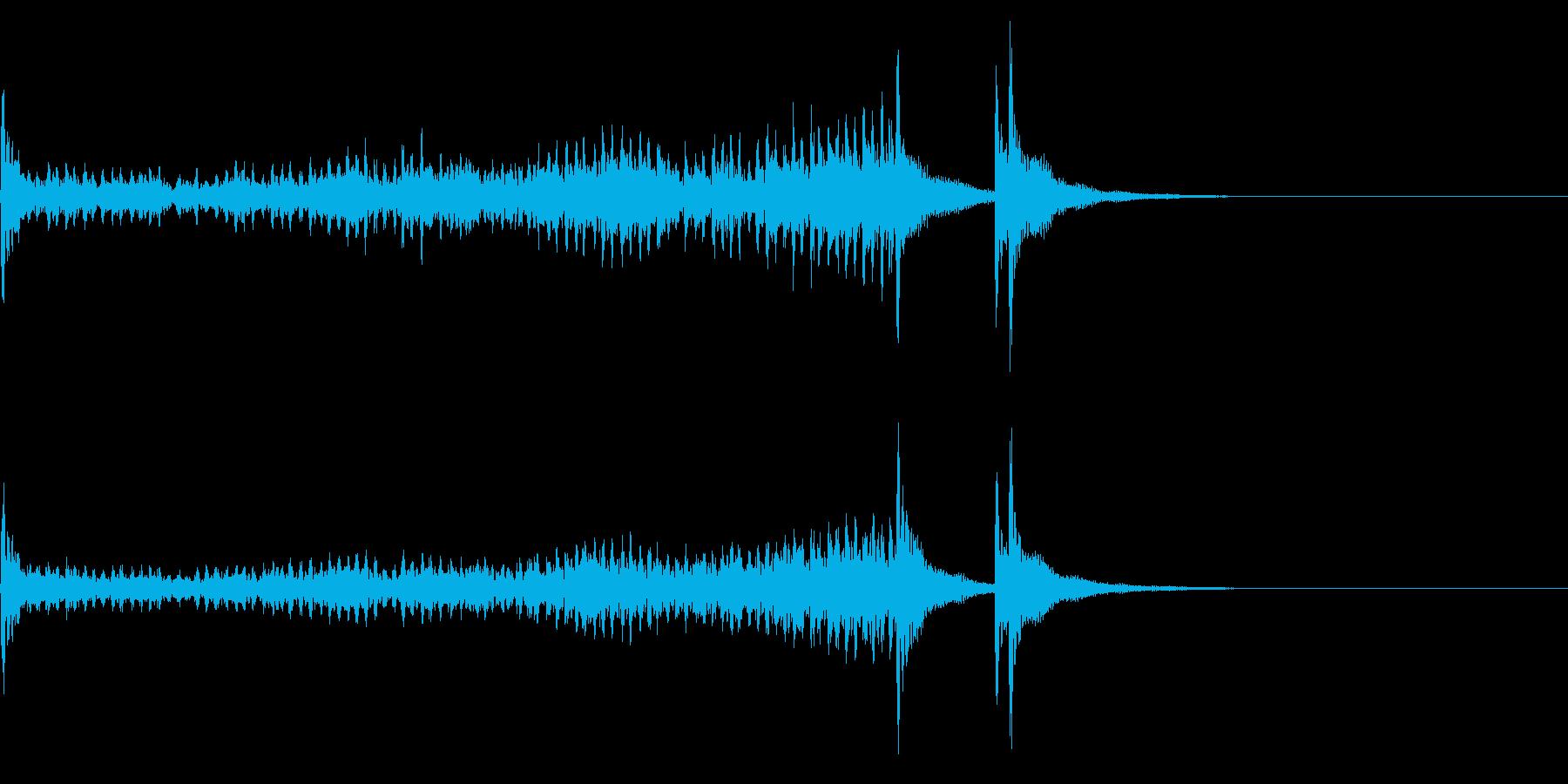 ティンパニーロールドドン☆ロング3の再生済みの波形