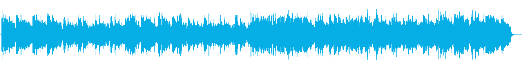 Cheerful relaxation music's reproduced waveform