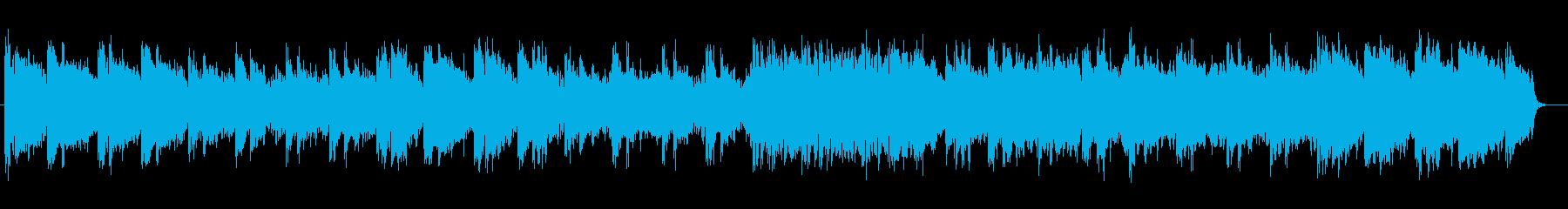 朗らかなリラクゼーションミュージックの再生済みの波形