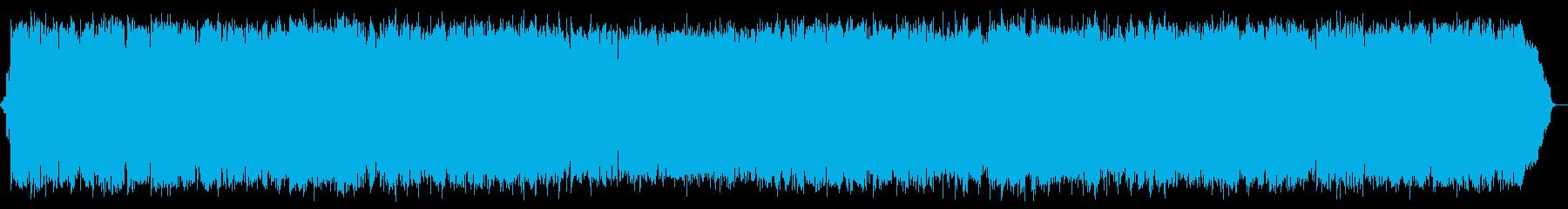 心落ち着く前向きなヒーリングミュージックの再生済みの波形