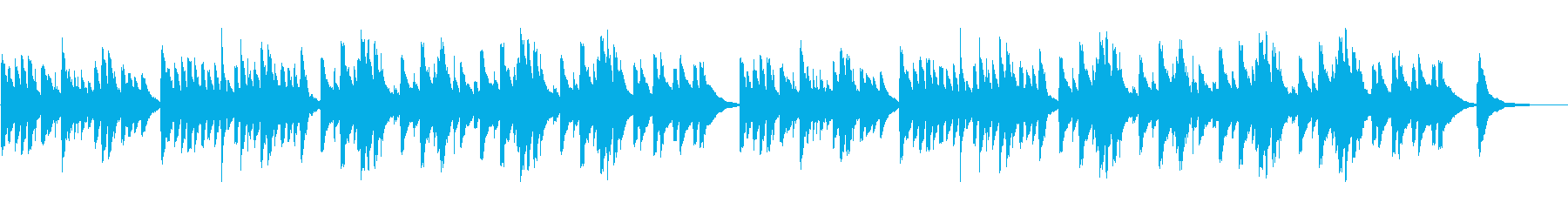 優しい・癒し・オルゴールの再生済みの波形