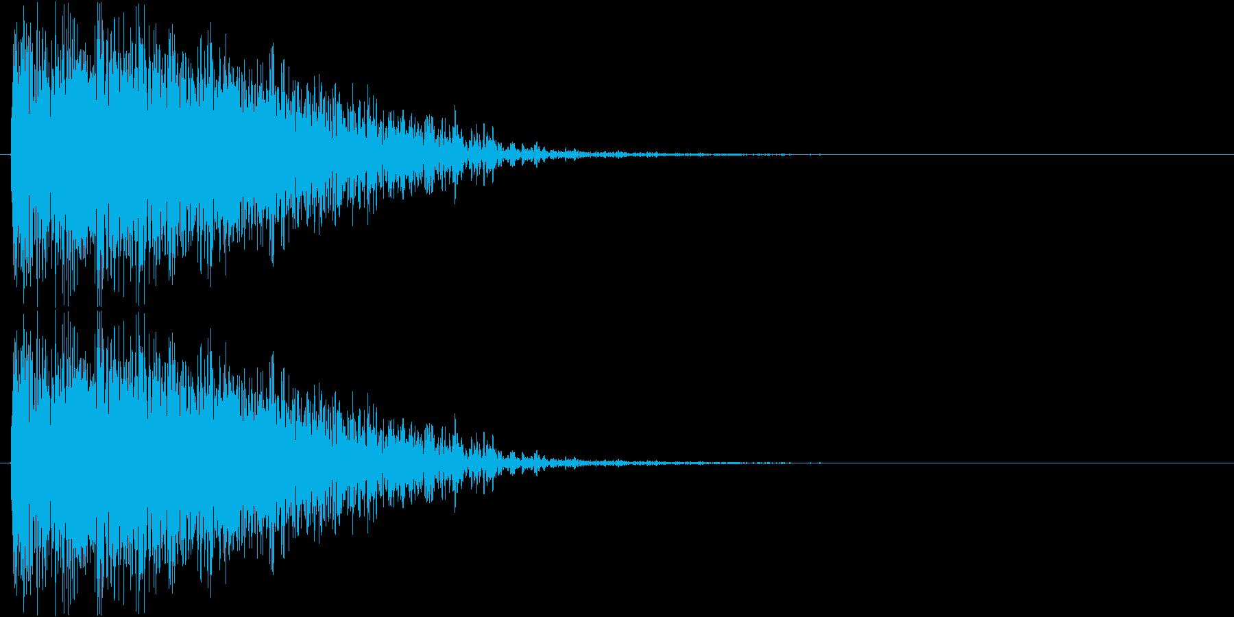ボボボボーン(着弾、爆発、複数)の再生済みの波形