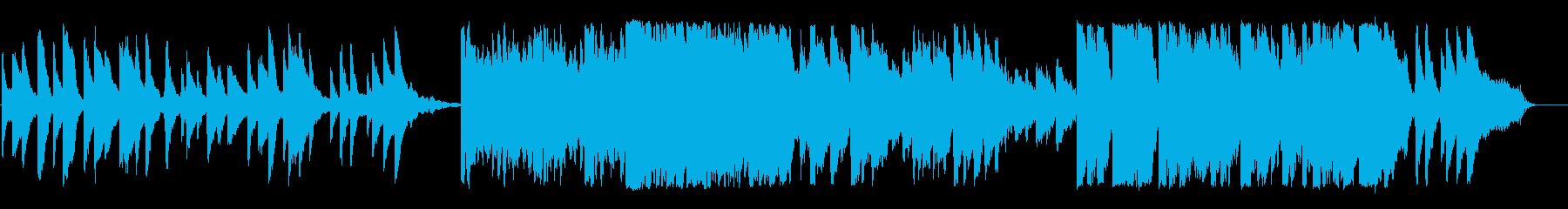 プリペアードピアノによる優しい曲の再生済みの波形