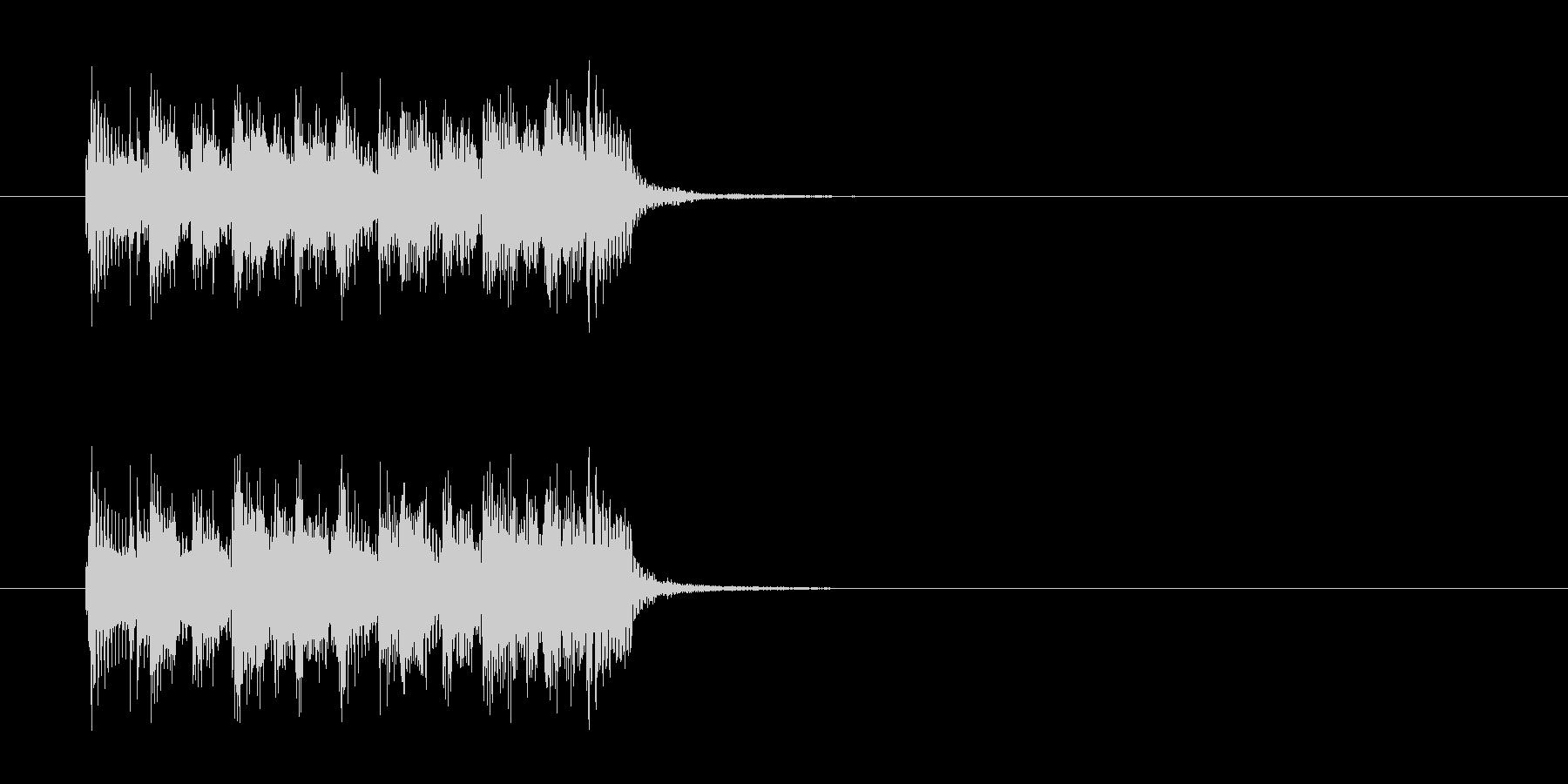 ジングル(ポップ調)の未再生の波形
