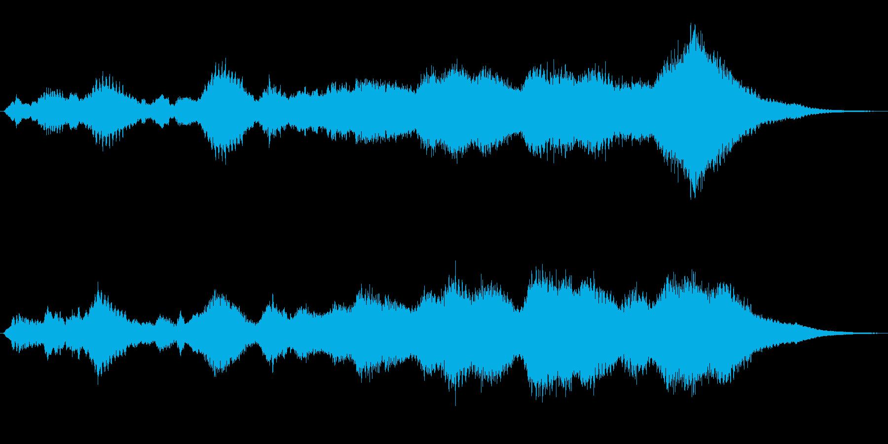 ホラー、サスペンス向けの電子アンビエントの再生済みの波形