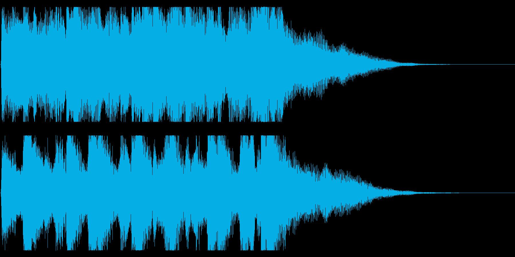 ミステリアスなピアノ 場面転換 切り替えの再生済みの波形