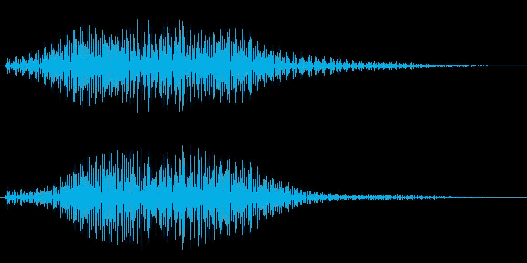ビュウォーッ(高速移動による風の音)の再生済みの波形