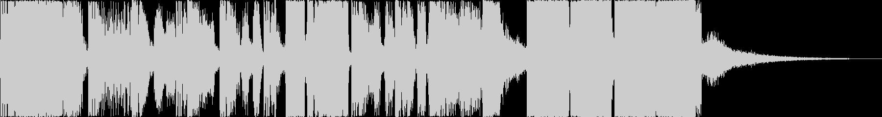 派手、デジタルな印象のジングル6の未再生の波形