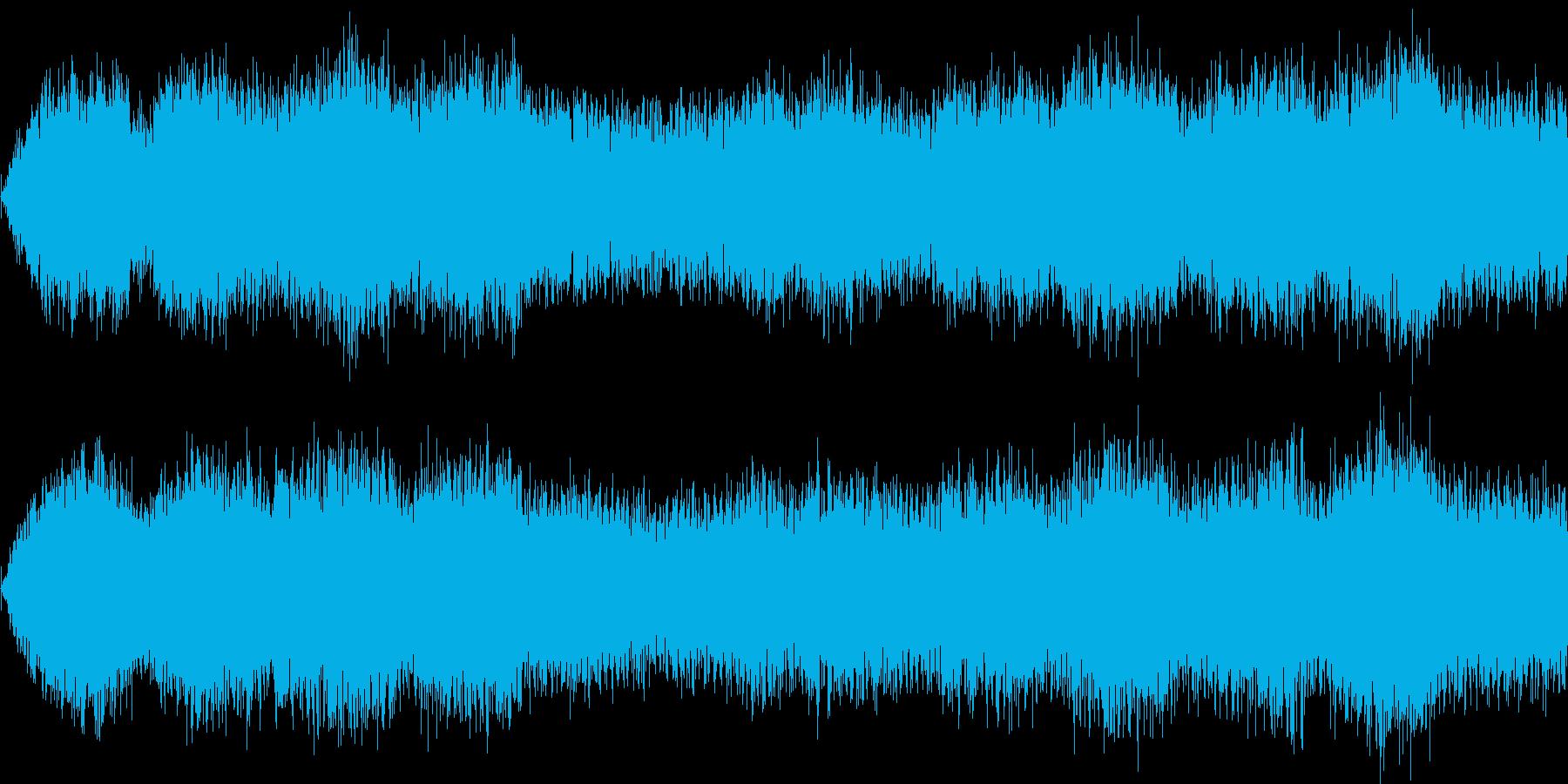 主人公が精神錯乱状態になった時の音楽の再生済みの波形