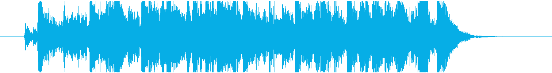 華やかなファンファーレですの再生済みの波形
