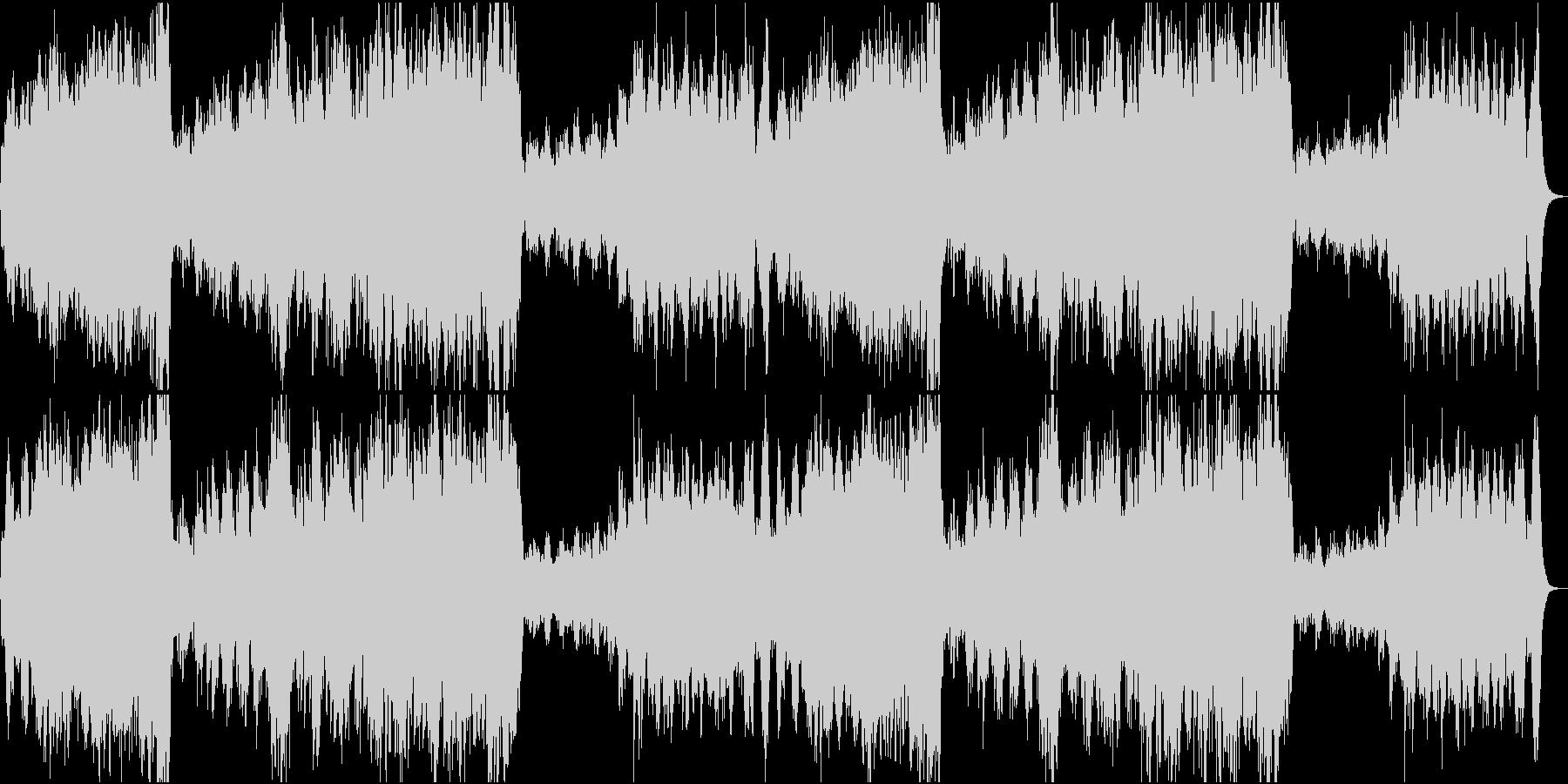 ファンファーレ+ハリウッド風BGMの未再生の波形