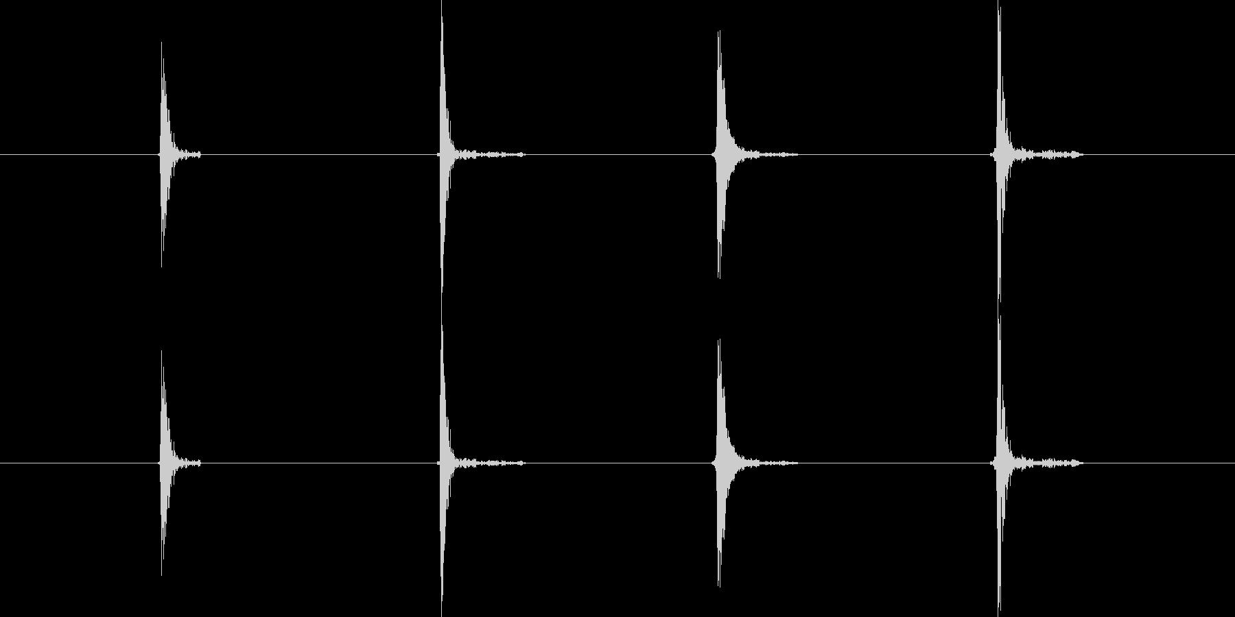 マウスをダブルクリックする音(カチカチ)の未再生の波形