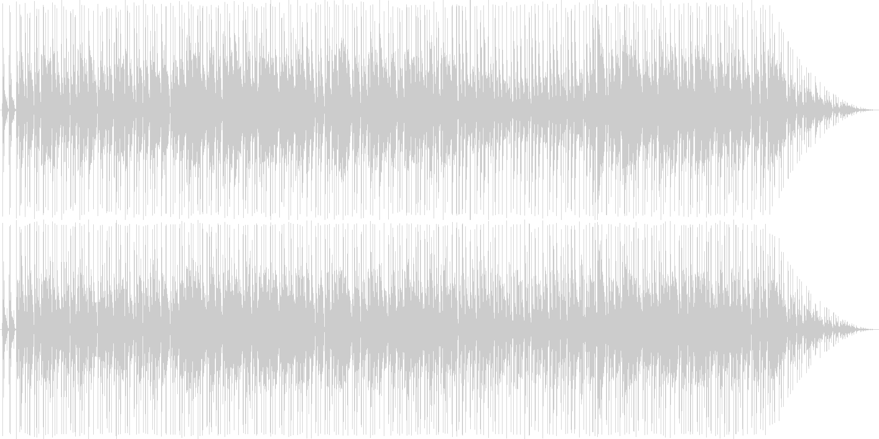 リズミカルなソウル風の日常系BGMの未再生の波形