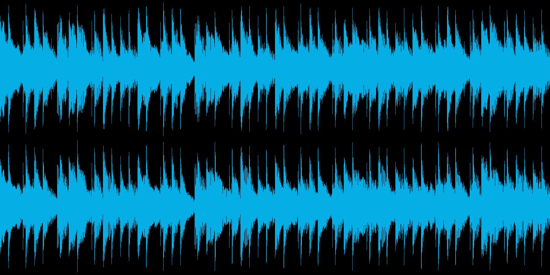 ピアノ、アコースティックギター、シ...の再生済みの波形