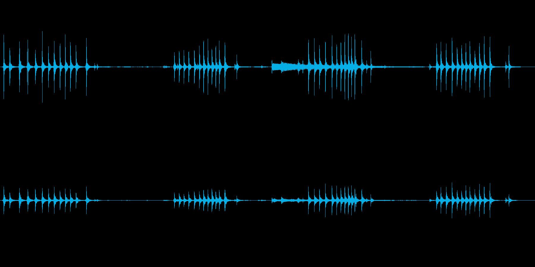 オルゴールの巻く音の再生済みの波形