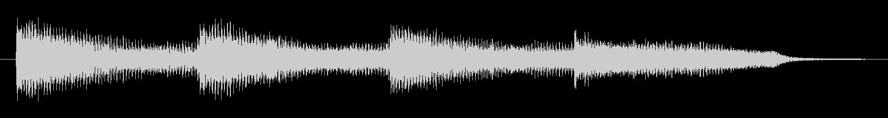 ホラーでゆっくりと迫るピアノの重低音の未再生の波形