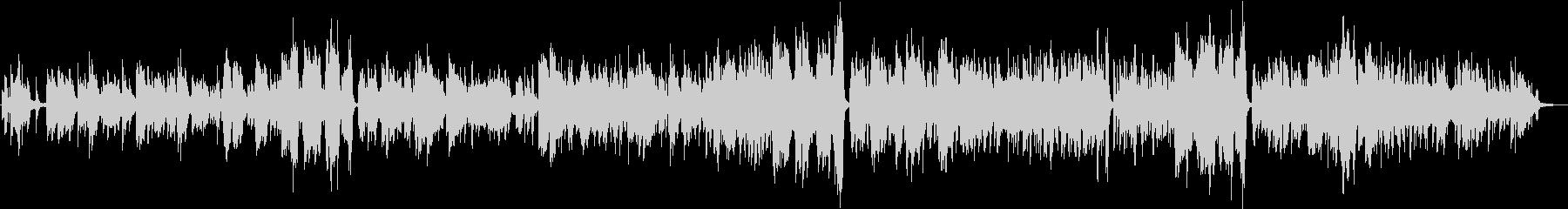 ピアノ伴奏による女性ボーカルのバラードの未再生の波形