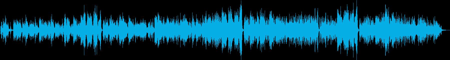 ピアノ伴奏による女性ボーカルのバラードの再生済みの波形