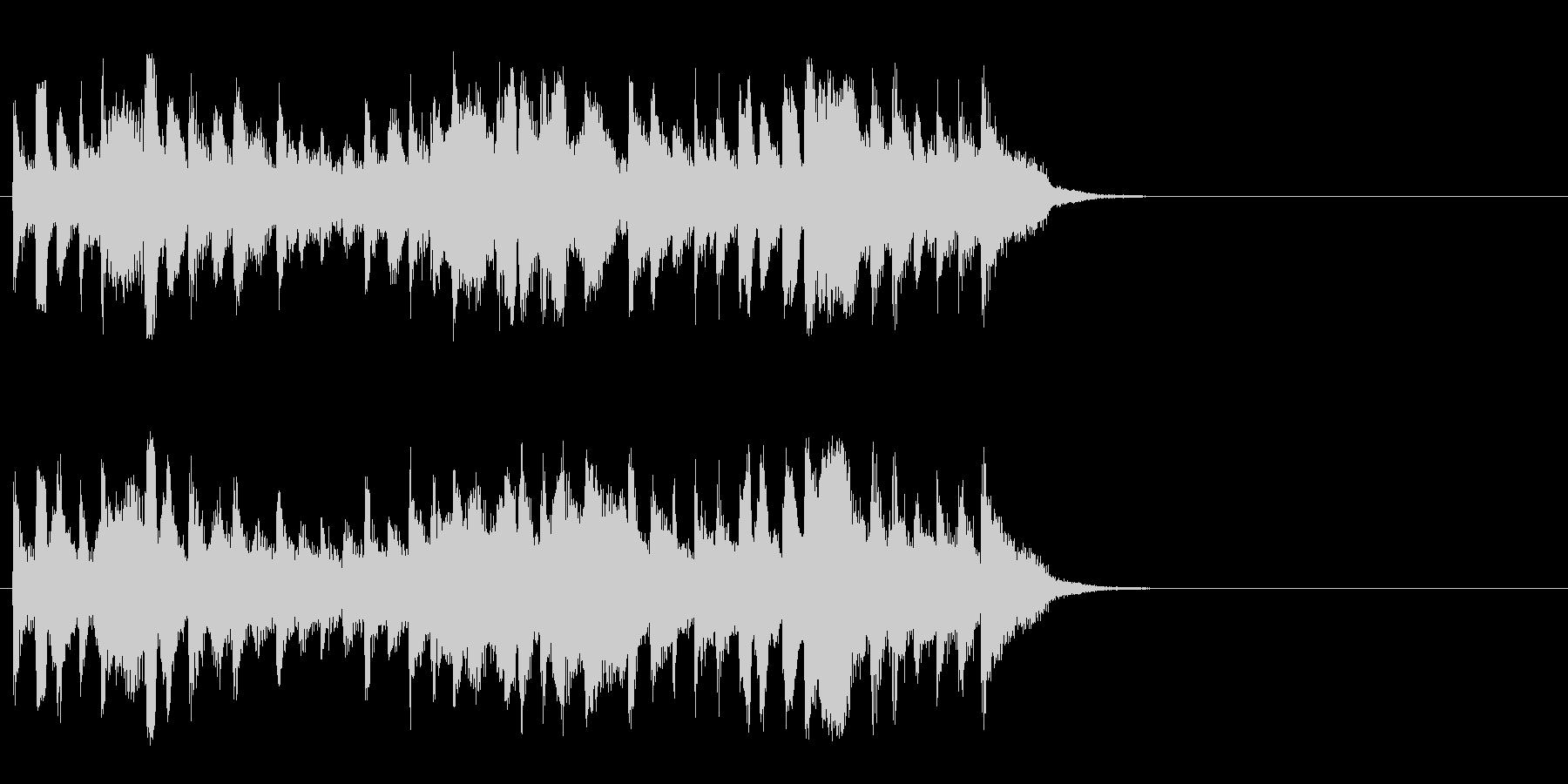 散歩する穏やかなポップス(Aメロ)の未再生の波形