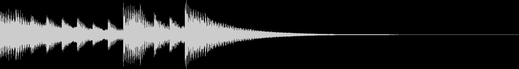 着信音にしたい優しさ溢れるマリンバの未再生の波形