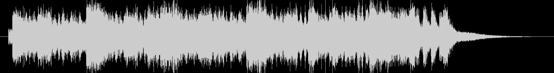 アクション風 オーケストラファンファーレの未再生の波形