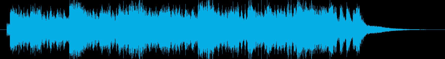 アクション風 オーケストラファンファーレの再生済みの波形